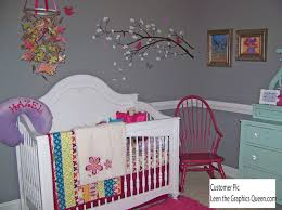 bedroom beautiful gray color baby nursery nice white flower bedroom beautiful gray color baby nursery nice white flower sticker on the wall white baby crib with red chair and flower paint mounted on the wall
