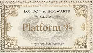 Hogwarts by Harry Potter Paraphernalia The Letters Invitations Platform 9 3