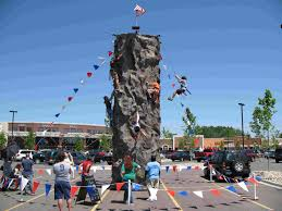 halloween city lapeer summit rock wall adventures portable rock wall with dual extreme