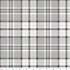 gray plaid fabric by the yard gray fabric carousel designs