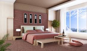 nice 3d design bedroom in home interior design concept with 3d