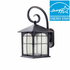 home decorators collection aged iron outdoor led wall lantern