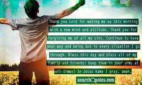 morning prayer thank you lord for waking me