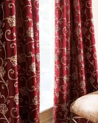 Neiman Marcus Drapes Clarimont Red Brown Designer Lined Curtains Red Curtains Living