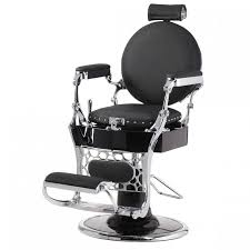fauteuil de barbier vintage noir