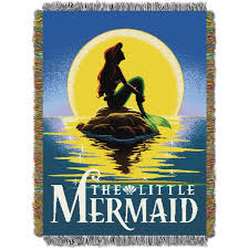 throw by the ariel mermaid poster tapestry throw by the northwest at