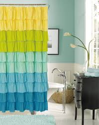 Yellow Ruffle Curtains by Amazon Com Dainty Home Flamenco Ruffled Shower Curtain 72 By 72