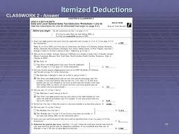 7 1 tax tables worksheets and schedules answers liberty tax service online basic income tax course lesson 8 ppt