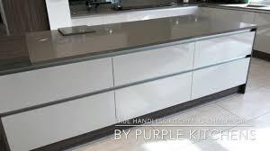 purple kitchens zurfiz true handleless kitchen cashmere youtube
