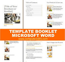 word template booklet booklet office templates 8 microsoft word