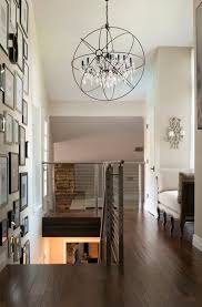 Transitional Chandeliers For Foyer Chandelier Foyer Transitional With Sloped Ceiling Brown