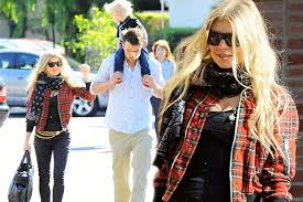fergie and josh duhamel take baby axl to church on christmas day