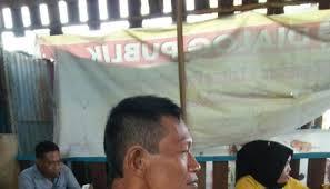 Timbangan Gabah Duduk kelompok tani liliriaja protes timbangan pedagang gabah gosulsel