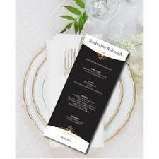 Diy Wedding Menu Cards Wedding Menu Cards Personalized Wedding Reception Menu Diy