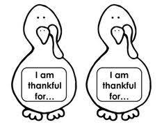 free thanksgiving turkey writing activity i am thankful for