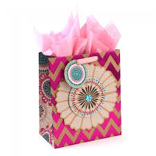 pink gift bags chevron floral hot st large luxury gift bags by icoloris