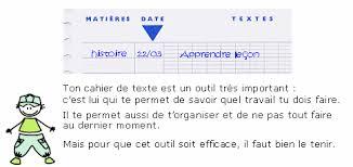 Cours de Méthodologie CE1  Tenir un cahier de texte  Maxicourscom