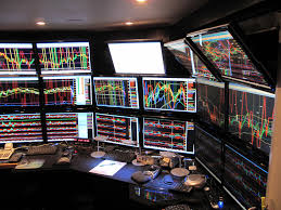 Computer Set Ups by 40 Monitor Computer Setup Of A Stock Trader Steve Price Slc Ssd