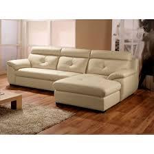 la maison du canapé canapé cuir angle droit beige la maison du canape la redoute