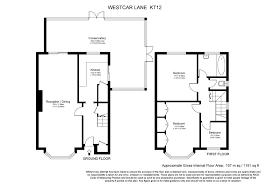 Walton House Floor Plan by Westcar Lane Hersham Walton On Thames Kt12 3 Bedroom Semi