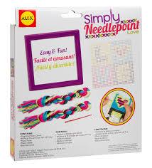 plastic canvas thanksgiving patterns amazon com alex toys craft simply needlepoint love toys u0026 games