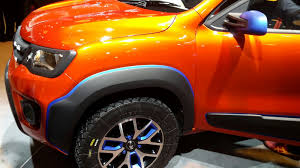 renault kwid red colour modified renault kwid climber pics alloys carblogindia