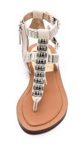 dolce vita fiji flat sandals black in natural lyst