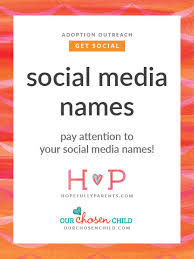 pay attention to your social media names hopefully parents