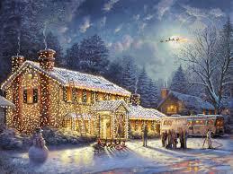 thomas kinkade national lampoon u0027s christmas vacation 25 5x34 a p