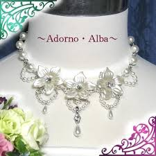 flower drop necklace images Adorno alba rakuten global market glitter rhinestone n155 jpg