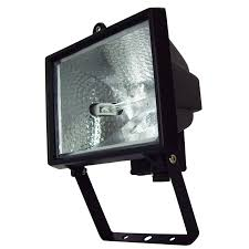 brilliant 500w black ascot halogen flood light bunnings warehouse