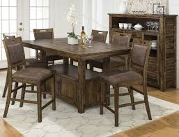Dining Room Counter Height Tables Reign Adjustable Height Table And 4 Counter Height Chairs Levin