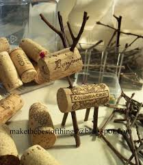 make the best of things teeny tiny wine cork reindeer