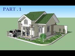 home design house sketchup tutorial house design part 1