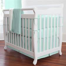 Mini Crib Vs Regular Crib Solid Seafoam Aqua Mini Crib Bedding Carousel Designs