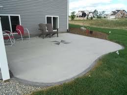 Backyard Concrete Patio Designs Concrete Backyard Landscaping Concrete Patios Idea Concrete