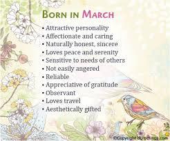 born in march birthday card