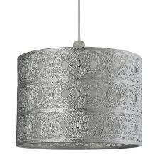 silver pendant light shade aniston pendant light shade satin silver pagazzi lighting