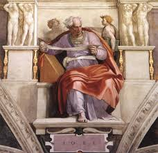 sistine chapel ceiling the prophet joel 1509 michelangelo by