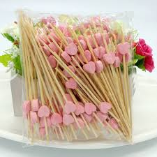 behokic 100 pcs 12cm disposable bamboo fork twisted party buffet