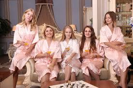 bridesmaid satin robes silk and bridesmaids robes kimono robe softrobe
