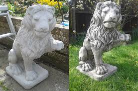whats the best way to paint concrete garden ornaments would