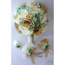 mint green corsage mint green burlap rustic bouquets corsages boutonnieres