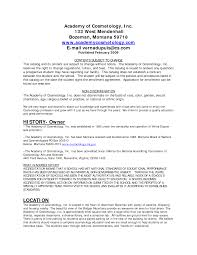 Cosmetologist Resume Example by Resume For A Cosmetologist Resume For Your Job Application