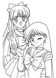 ami makoto rei coloring sailormoon sailor moon