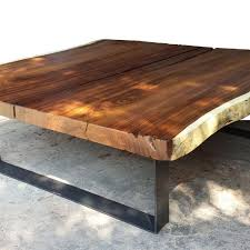 Slab Coffee Table by Foreign Accents Live Edge Slab Coffee Table
