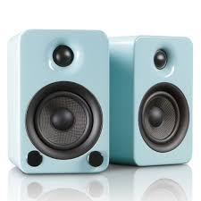 modern speakers yu3 powered bookshelf speakers teal kanto touch of modern