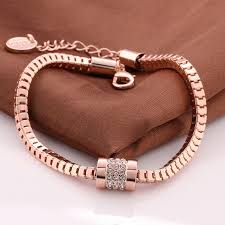 rose gold necklace fashion images New fashion crystal jewelry bracelets top quality 18k rose gold jpg