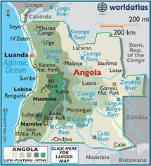 angola physical map geography of angola landforms world atlas
