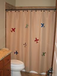 Airplane Shower Curtain Crayon Roll Stitched By Janay
